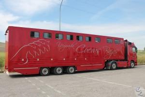 Vehículo para caballos - transporte de animales