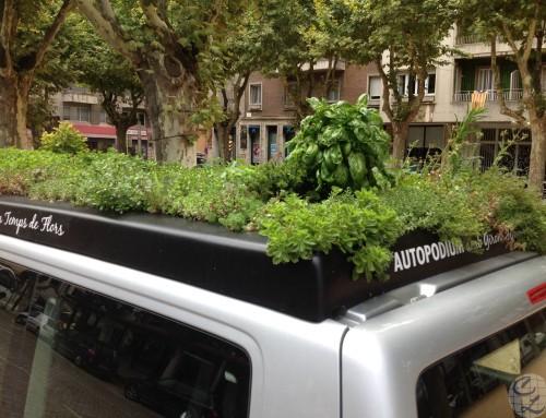 Vehículo con cubierta ajardinada